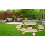 Комплект маса с пейки  Рондело